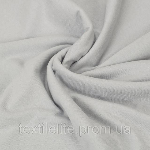 Кулирка оптом турецкая трикотажная ткань хлопковая 100%, цвет - Серебро
