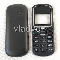 Корпус для Nokia 1280 чёрный не дорогой английская клавиатура