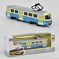 JT Трамвай металлопластик 6411 С (96/4) инерция, в коробке