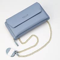 Женский клатч-кошелек Baellerry Leather  для кредитных и дисконтных карт Голубой, фото 1