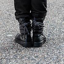 "Кроссовки Nike SF Air Force 1 Special Field Hi ""Black/Dark"" (Черные), фото 2"