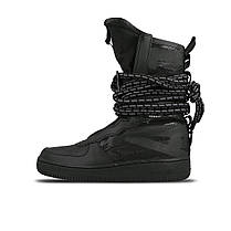"Кроссовки Nike SF Air Force 1 Special Field Hi ""Black/Dark"" (Черные), фото 3"