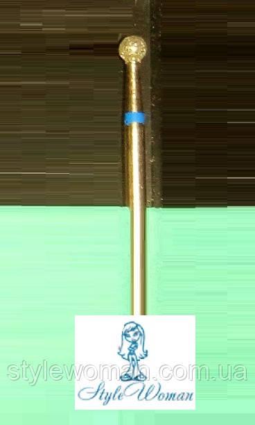 Насадка фреза алмазная синяя, шарик 5мм