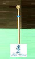 Насадка фреза алмазная синяя, шарик 5мм, фото 1