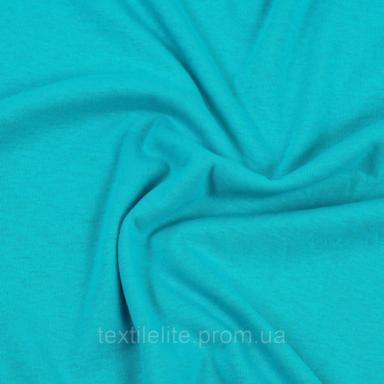 Кулирка ткань трикотажная в рулонах оптом, цвет-мятный, хлопок 100%, Турция