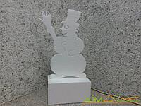 Снеговик из пенопласта высотой 50 см