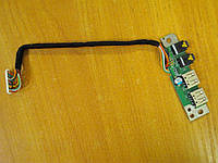 Плата с гнездом аудио звук и USB портом Toshiba SPM30 PSM35E M30 M35 PSM35E-000MN-RU