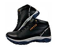Мужские зимние кожаные кроссовки ботинки на меху Jordan, фото 1