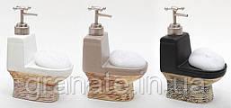 Дозатор для жидкого мыла с губкой 19.6 см, 3 вида