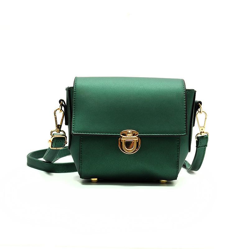Женская сумочка клатч зеленая 435 опт