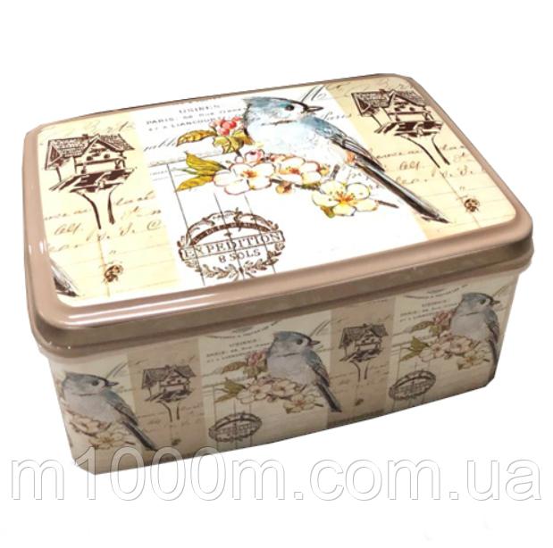 Корзинка контейнер с крышкой с рисунком 3,5л. №2 Elif, 504
