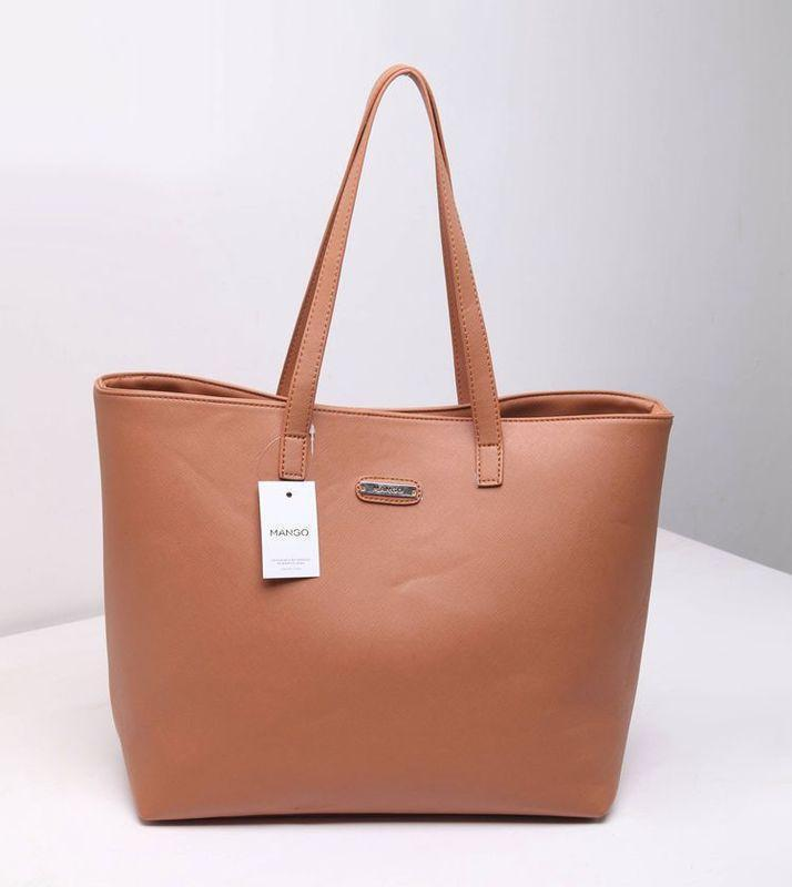 Женская сумка светло коричневая большая манго mango опт