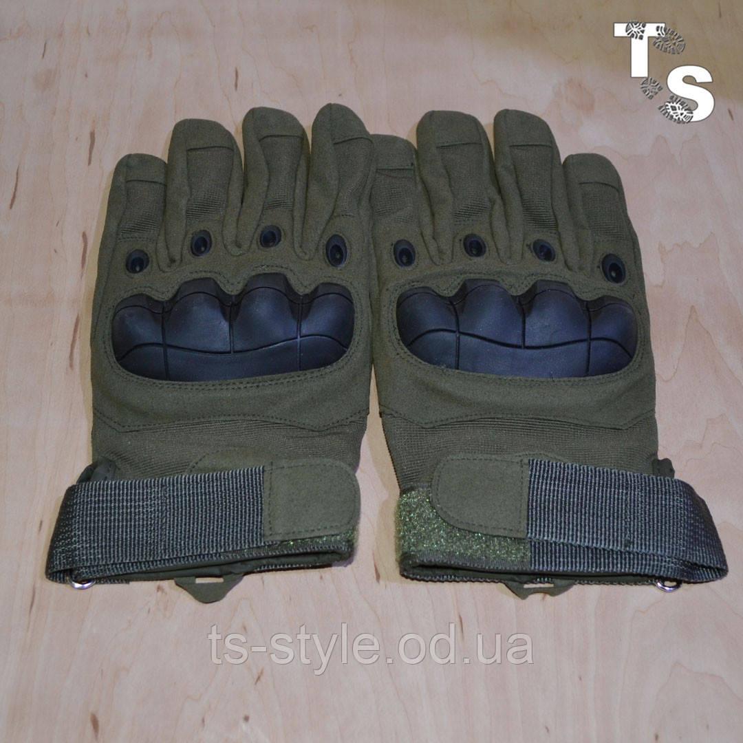 Тактические перчатки армейские полнопалые олива