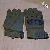 Тактические перчатки армейские полнопалые олива, фото 3