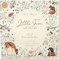 Набір двостороннього паперу - Little Fawns & Friends - Craft Consortium - 30х30 Ціна за 1/4 набору!!! (10 л.)