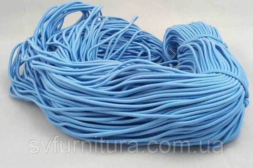 Гумка шнур 3 мм блакитний
