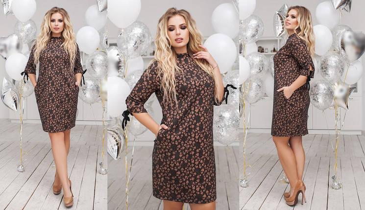 """Теплое шерстяное мини-платье """"OLIO"""" с карманами (большие размеры), фото 2"""