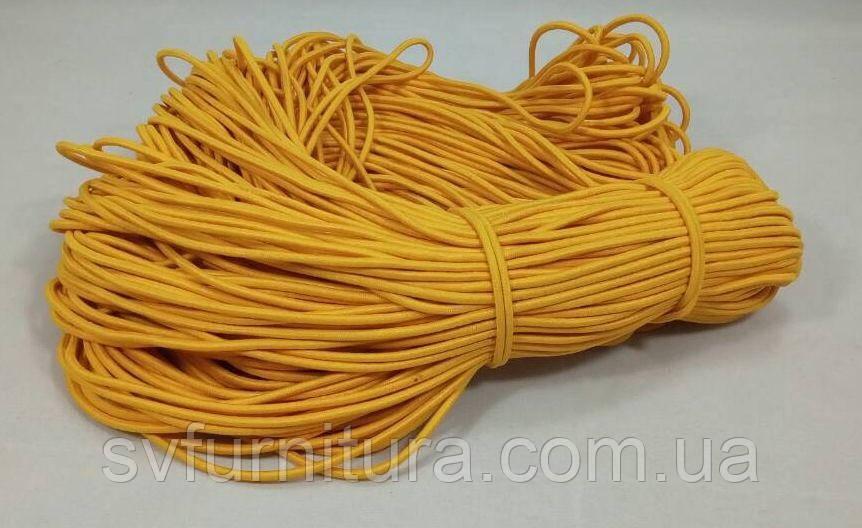 Резинка шнур 3 мм желтый