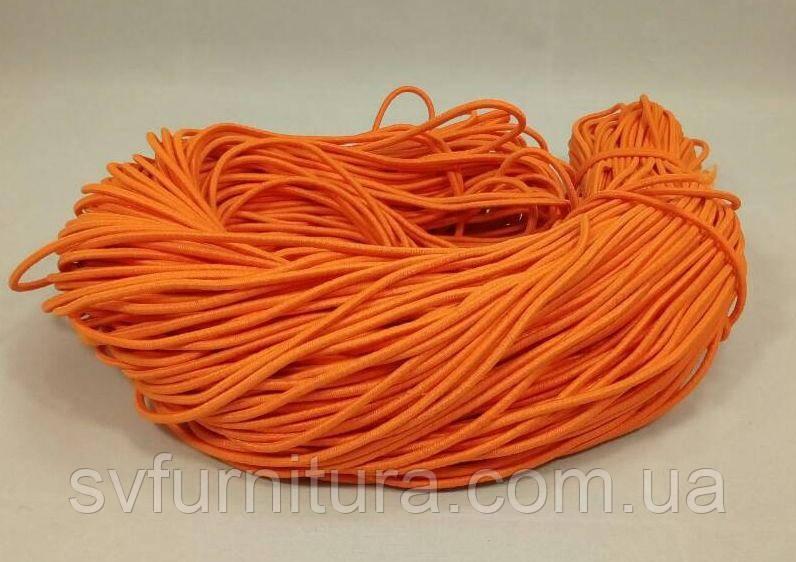 Резинка шнур 3 мм оранжевый