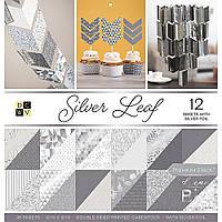 Набір двостороннього паперу - Silver Leaf - DCWV - 30x30 Ціна за пів набору!!!