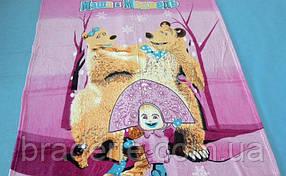 Детская микрофибровая простынь-покрывало 127×152 см Elway Маша и медведь B-12