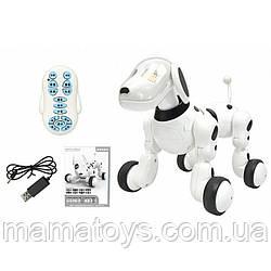 Собака 619 на Радиоуправлении Размер 23 см Ходит, танцует, звук (англ), музыка, свет, USВ зарядное