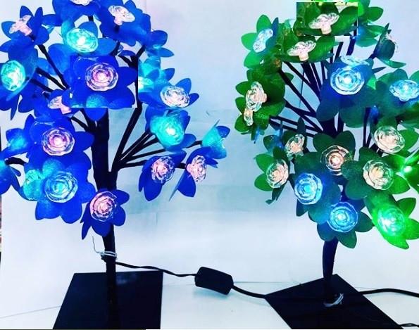 Декоративное светящееся дерево (цветок и листья)