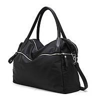 Женская сумка большая черная спортивная тканевая