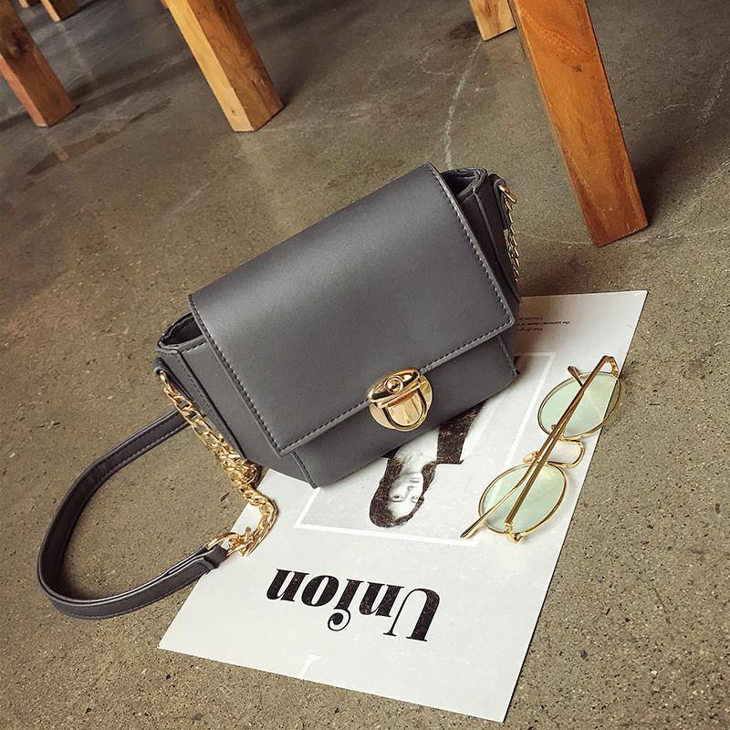Женская сумочка маленькая через плечо темно-серая