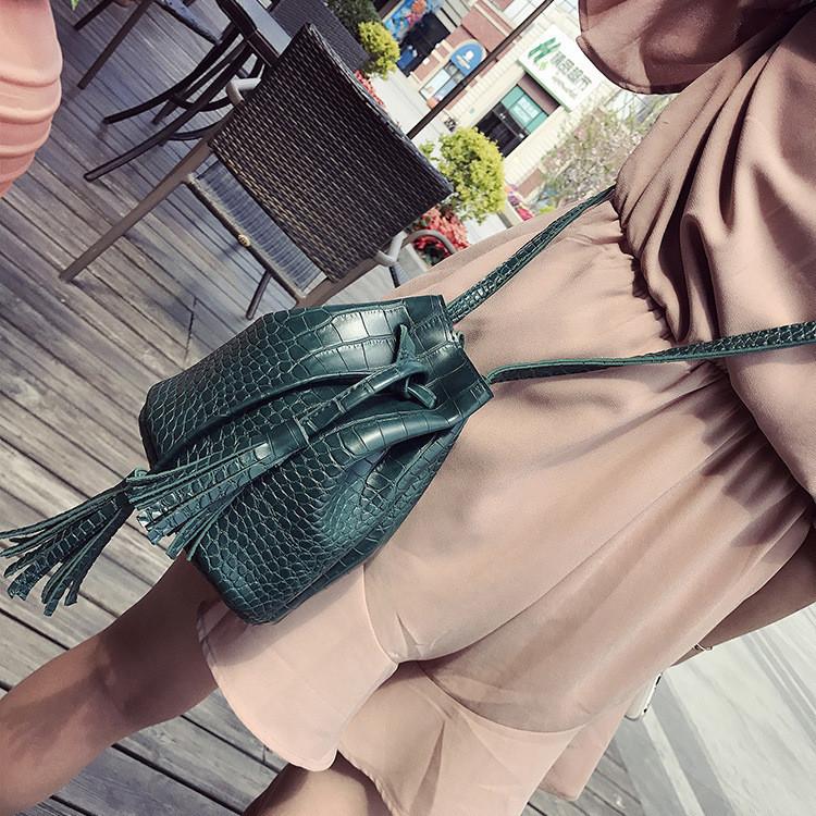 Женская сумочка мешок маленькая на завязках