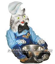Садовая фигура Кот с миской, фото 2