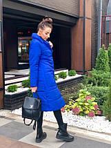 """Стеганое женское пальто на силиконе """"SLIM"""" с карманами (4 цвета), фото 2"""
