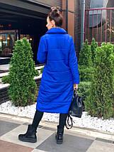 """Стеганое женское пальто на силиконе """"SLIM"""" с карманами (4 цвета), фото 3"""