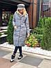 """Стеганое женское пальто на силиконе """"SLIM"""" с карманами (4 цвета), фото 5"""