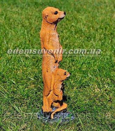 Садовая фигура Суслик с малышом, фото 2