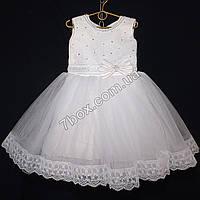 Детское платье бальное Венеция (Белое) Возраст 4-5 лет., фото 1