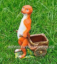 Садовая фигура Суслик с тачкой малый, фото 2