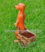 Садовая фигура Суслик с тачкой малый, фото 3