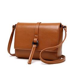 Женская мини сумочка рыжая на молнии опт