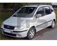 Боковое стекло задней двери Hyundai Matrix '01-10 левое (XYG)
