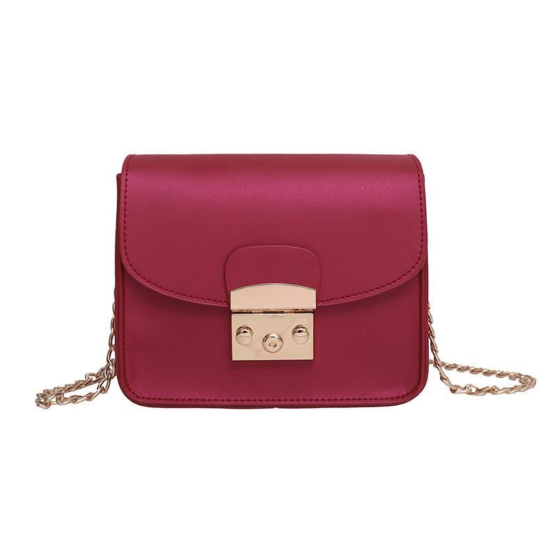 Женская сумочка мини на цепочке бордовая 875 опт