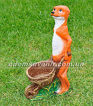 Садовая фигура Суслик с тачкой , фото 2