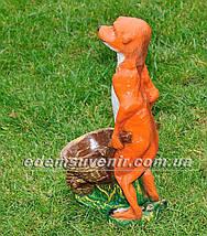 Садовая фигура Суслик с тачкой , фото 3