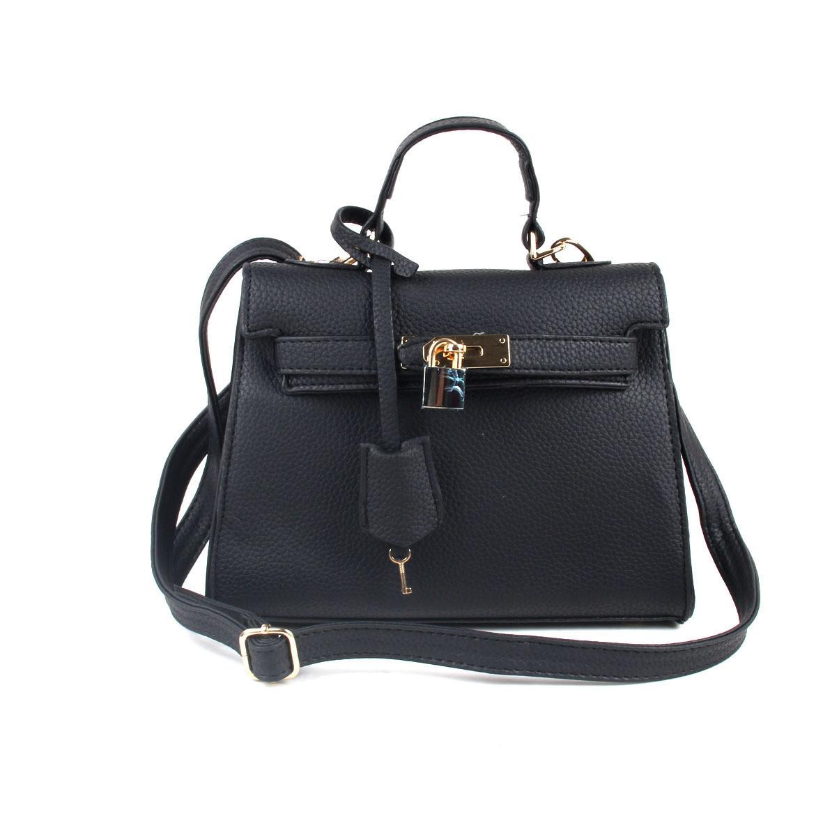 Женская сумочка черная с замочком опт