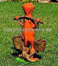 Садовая фигура цветочник Суслик с ведрами, фото 3