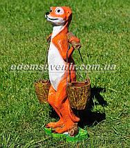 Садовая фигура цветочник Суслик с ведрами, фото 2