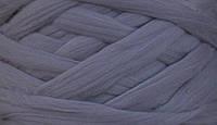 Австралийский меринос для валяния 23 микрон (10 грамм) - Стальной. Шерсть для валяния серая. Фелтинг