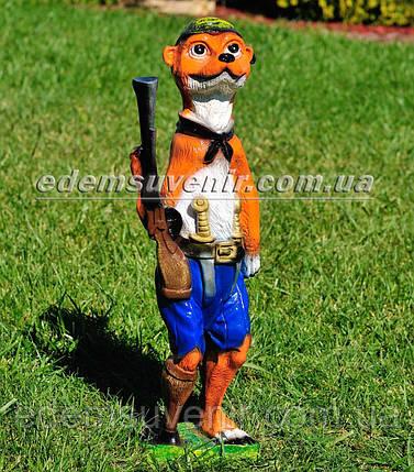Садовая фигура Суслик с ружьем, фото 2