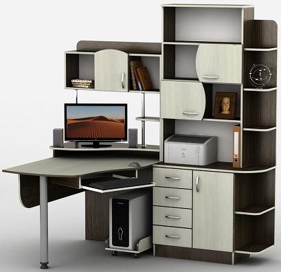 Компьютерный стол угловой Тиса-8