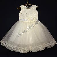 Детское платье бальное Венеция (молочное) Возраст 4-5 лет., фото 1